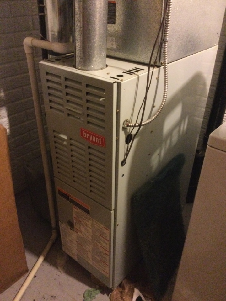 New Albany, OH - Replaced failed inducer motor, blower capacitor and ignition system on a Bryant furnace