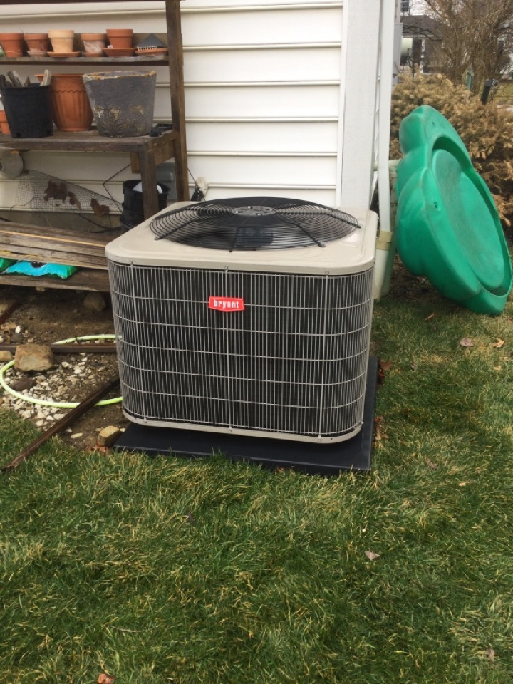 New Albany, OH - Annual maintenance check on a Bryant air conditioner