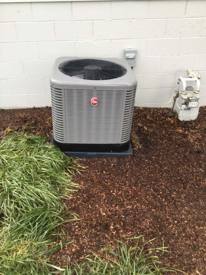 Lewis Center, OH - Ac maintenance inspection including cleaning condenser coil, checking electrical connections and cycling equipment to ensure proper operation.