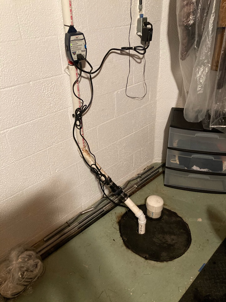 Westerville, OH - Installing sump pump