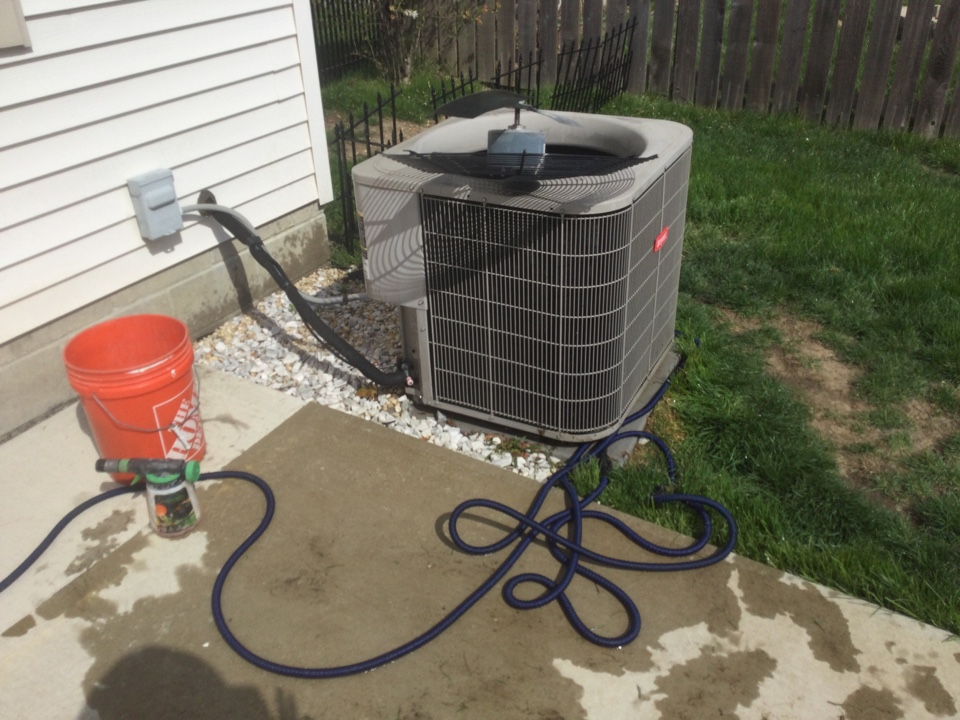 Performing maintenance on a 2013 Bryant air conditioner