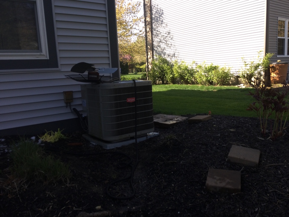Dublin, OH - Performing maintenance on a 2008 Bryant air conditioner