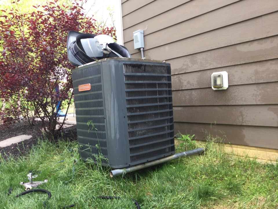Hilliard, OH - 2014 Goodman air conditioner. Completed mechanical, safety, and performance test on air conditioner. Found concern with voltage distribution center. Contacts badly pitted and burning around armature. 2 volt drop across contacts. Recommended replacement to prevent failure during summer Sean and damage to other components In the system. Went over options on page Hd3. Customer chose Hd3b. Completed basic voltage distribution system renovation and cycled system. All okay at this time.