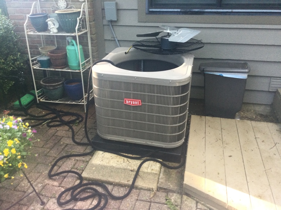 Dublin, OH - Performing maintenance on a. 2020 Bryant air conditioner.