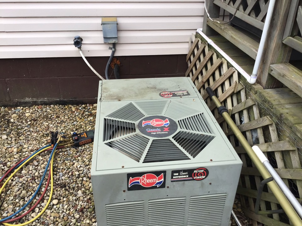 """Replaced and and tested  System is from2019 Goodman  Found a finish basement with no water safety switch on indoor coil  There is a two bends in the suction line but not completely kinked  There is air flow leaks in downstairs throughout unfinished part of the duct work and where indoor coil and furnace meets.  Furnace is from 1997kav  She will speak to husband about repairs for future  There can be a return added in finished part with panning and 7"""" 90' with two collars  Silicone on outdoor unit is not there and can have bugs enter I will go over repair options with office"""