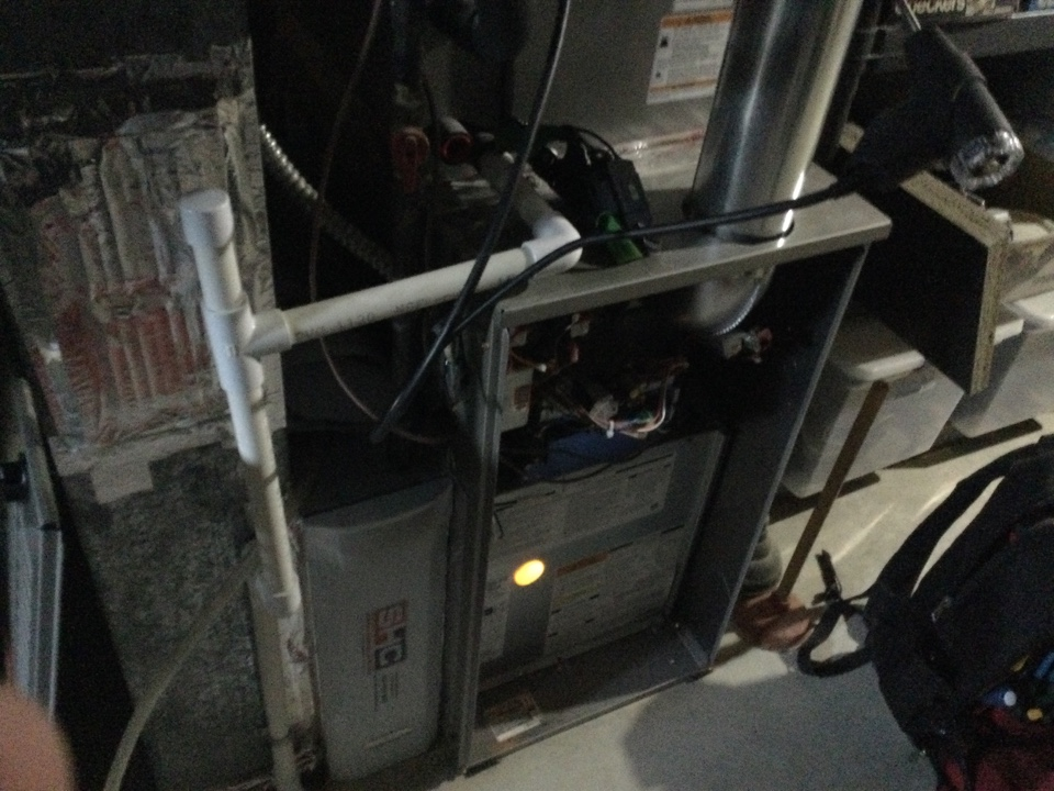 Performing maintenance on a 2018 Bryant 2 stage natural gas furnace