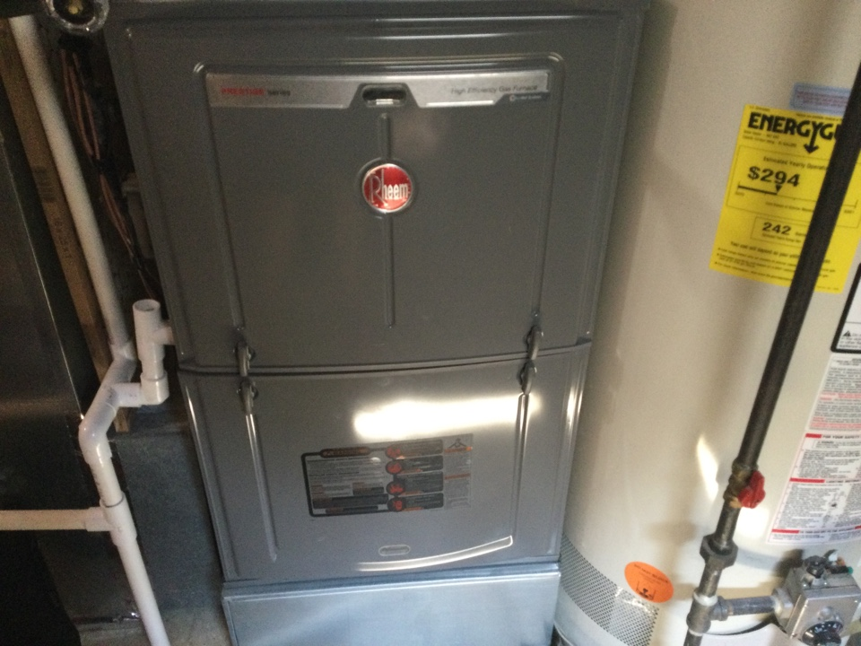 Performing maintenance on a. 2016 rheem 2 stage gas furnace.m