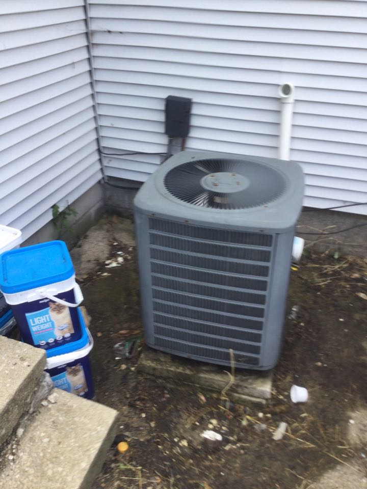 Heat pump maintenance inspection including cleaning unit, checking electrical connections and and cycling equipment to ensure proper operation.