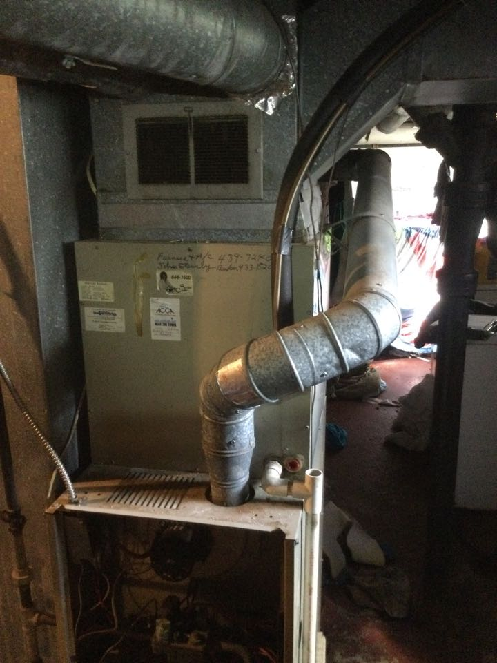 Furnace safety inspection including cleaning unit, checking electrical connections and combustion analysis to ensure safety.