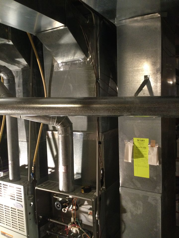Furnace inspection including cleaning unit, checking electrical connections and combustion analysis to ensure safety.