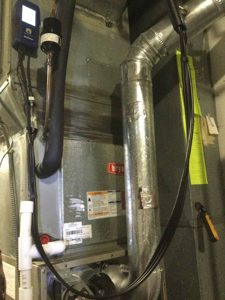 Westerville, OH - Furnace inspection including cleaning unit, checking electrical connections and combustion analysis to ensure safety. Replaced noisy inducer motor today to prevent failure.