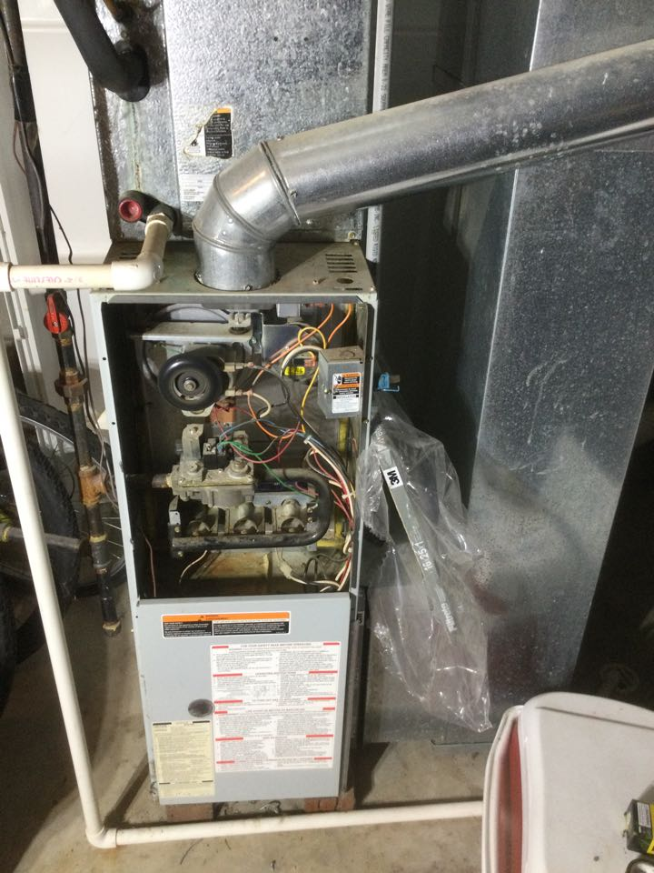Westerville, OH - Furnace inspection including cleaning unit, checking electrical connections and combustion analysis to ensure safety