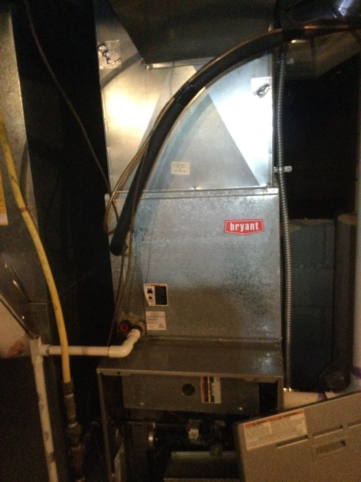 Westerville, OH - Furnace inspection including cleaning unit checking electrical connections and combustion analysis to ensure safety.
