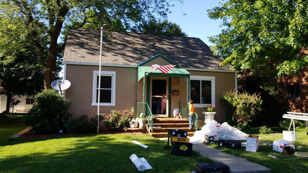 Lincoln, NE - Finishing up a full window and gutter replacement.  Lookin good!