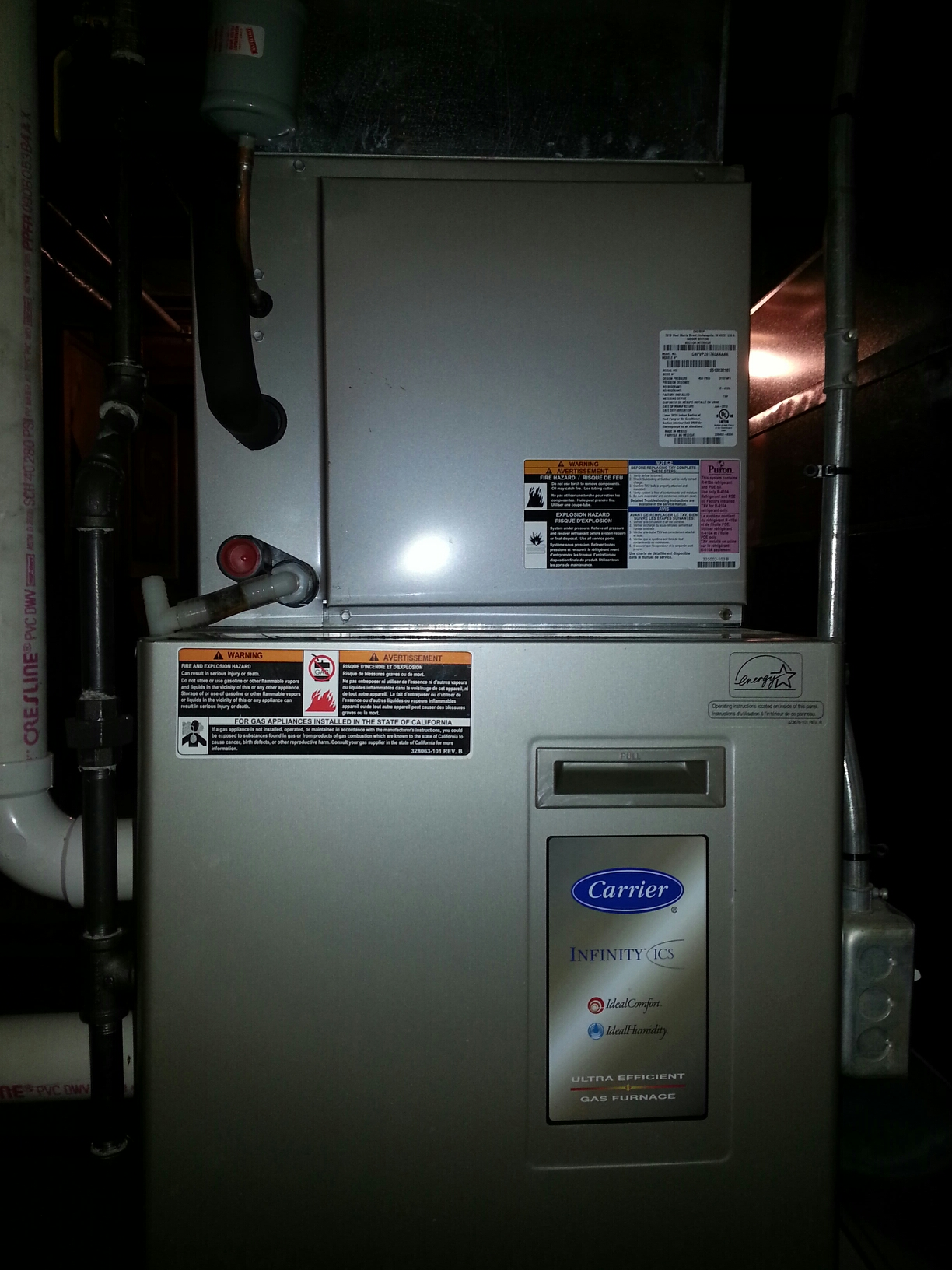 Kenosha, WI - Carrier furnace tuneup