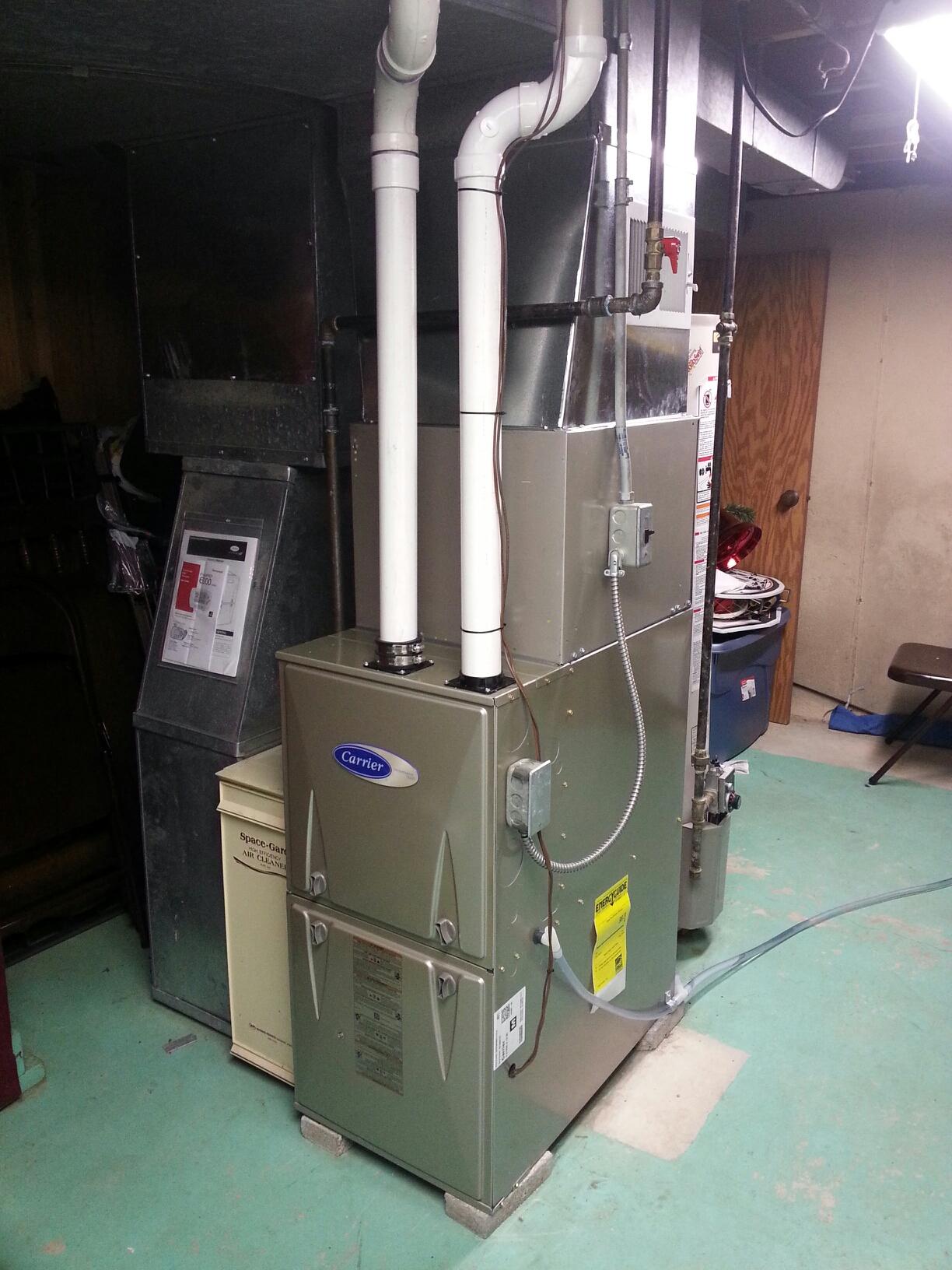 Kenosha, WI - Carrier furnace install