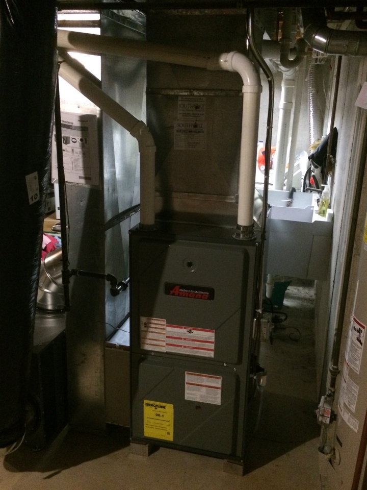 Kenosha, WI - Walk through installation of Amana variable speed, two stage furnace with whole house dehumidifier and wifi thermostat.