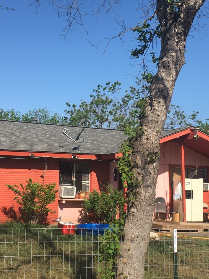 San Antonio, TX - We remove the old shingles replaced a lot of decking weinstalled synthetic underlayment and a lifetime warranty shingle with high profile ridge cap no