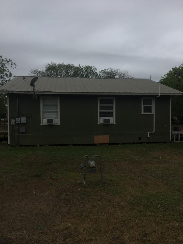 Hondo, TX - Hail damage inspection a lot of hail damage last night shingles or metal