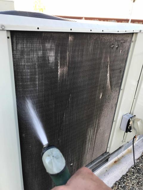 Spring preventative AC maintenance was scheduled for a clothing retailer in Beverly Hills, California. The technician serviced all 6 commercial Trane air conditioners, swapping out all filters, inspecting components and washing condenser coils. Confirmed units functional and ready for summer heat load.