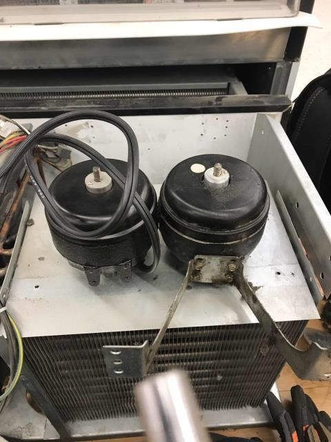 Quoted repairs were scheduled for a pharmacy in Bakersfield CA, to install a new condenser fan motor on their commercial style beverage cooler.  After installing new parts, the technician tested the Beverage Air cooler and confirmed operations were normal again. Unit at correct temperatures per specs, job complete.