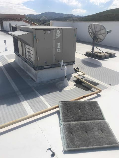 Santa Clarita, CA - Spring AC maintenance scheduled for a home goods store in Santa Clarita California. All Lennox air conditioners onsite had their filters swapped, condenser coils cleaned, electrical (contactors, wiring, etc) checked, belts inspected and major components tested. Confirmed with EMS that no units were in alarm or showing issues. PM complete.