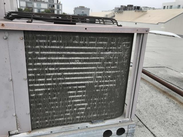 An office building in Marina del Rey CA was scheduled for their major spring AC PM. Upon arrival, the technician inspected and tested all equipment, swapped out all filters, flushed drain lines and pans. 4 out of 5 units have deteriorating coils, and unit #4 has a condenser fan motor with noisy bearings and is leaking oil. Will quote necessary repairs to customer, will also recommend future replacement for the deteriorating units (salt air has rusted out much of the equipment). PM complete.
