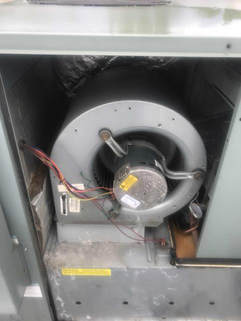 An office building in Burbank, California, reported that one of their Rheem air conditioners was vibrating badly on the roof. Our technician arrived and pinpointed the problem unit, system had a bad  ECM motor and a blower wheel that was out of balance. Will need to order motor and pick up wheel, quoting out repairs to customer ASAP.