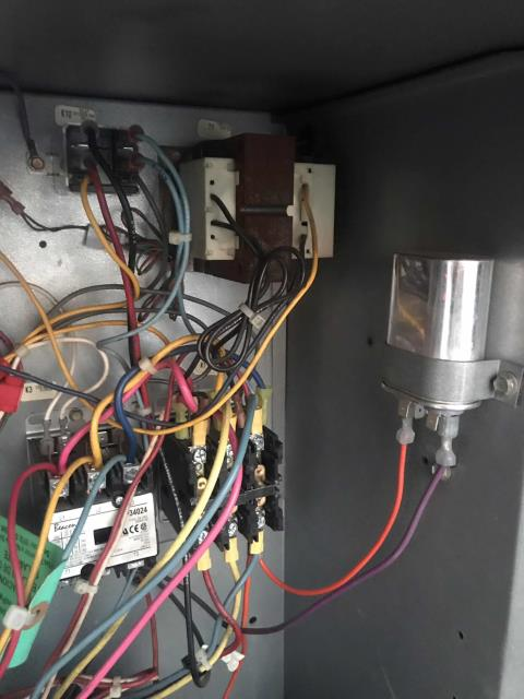 A commercial customer in La Habra CA reported that their office air conditioner was not working. EMS showed the unit had multiple faults. Upon arrival, our technician troubleshooted the #5 Lennox unit and found it off on high head pressure with a loose connection on the condenser fan motor relay. Repaired, reset and ran unit. No more issues to report, confirmed site is back to normal with EMS.