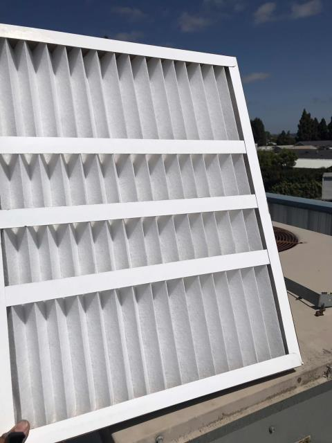 Air conditioning maintenance scheduled for a customer's commercial units in San Luis Obispo California. All units were inspected and pre-summer checklist completed. Filters swapped, drain lines cleared. No issues onsite, units operating normally.