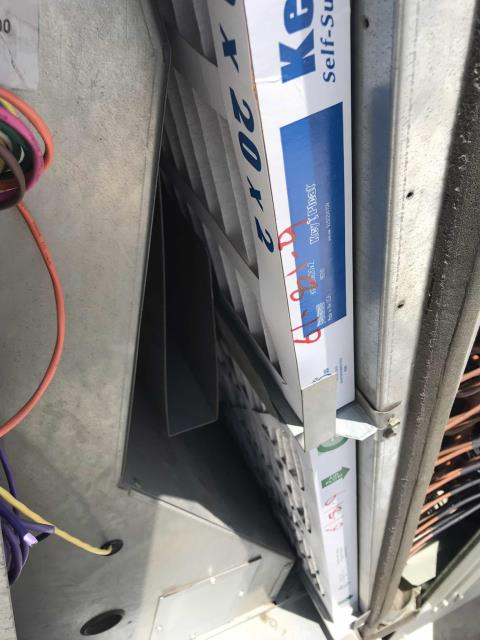 Scheduled a summer air conditioning PM for a retailer in San Bernardino county. Completed all maintenance tasks for basic maintenance, including filter change and system inspection. Found one Trane system that was tripping the breaker. Unable to find any shorts in allotted PM time, will quote for time to return and trace electrical to find the issue.