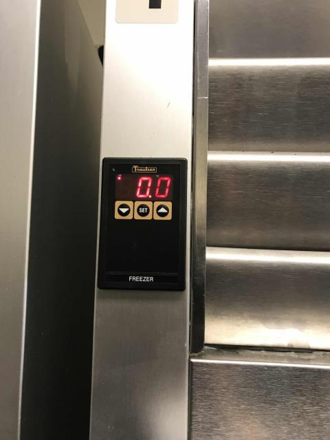 Sacramento, CA - Our commercial refrigeration technician returned to a customer in Sacramento CA to continue repairs on their Traulsen freezer. The unit had been completely iced up the day before and was now defrosted. Our tech troubleshooted the system and found it low on refrigerant. Will quote a leak repair and return. Box is at 0 degrees at this time.