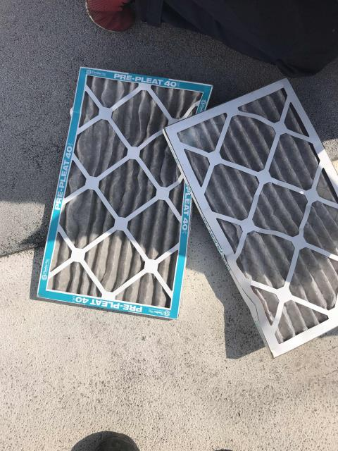 Santa Ana, CA - Summer HVAC maintenance scheduled for a commercial customer in Huntington Beach California. All filters changed, units inspected and no deficiencies found. PM complete.