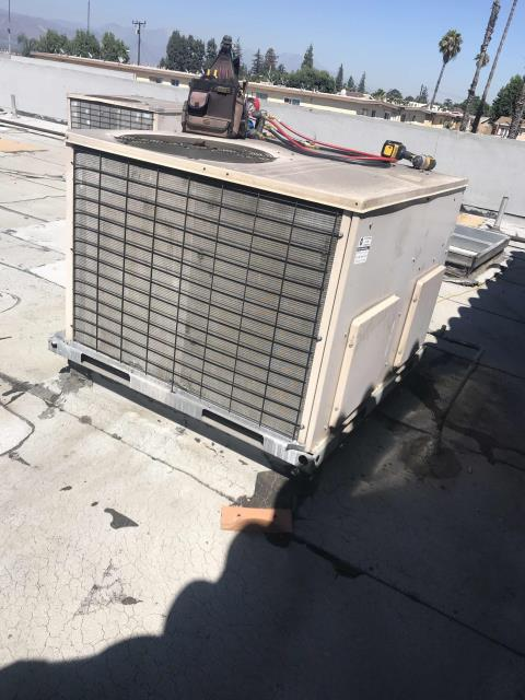 Dispatched our commercial HVAC tech to a cash loan store in El Monte California. The site claimed their AC had gone down and store was very warm. Upon arrival found that the unit is extremely dirty: filters, coils dirty especially the evaporator, and the condensate clogged. Will need to  open up the coils to properly clean the evaporator, quote to follow.
