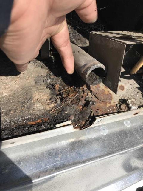 A chiropractor's office in Mission Viejo CA was scheduled for HVAC maintenance today. Standard summer, minor service: all filters changed, units inspected and deficiencies noted. System is functional, but has a rusted capacitor that needs to be replaced and a drain line that has cracked. Will quote repairs for customer.