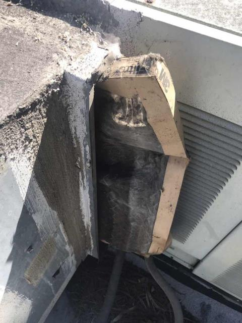 Our Corona California area technician responded to a no cooling call. Back air conditioning unit wasn't working. Upon arrival, found that the air filter for the system was badly clogged, allowing little airflow and causing the evaporator to ice over. System was slightly low on refrigerant, will recommend a leak search, unit is working for now.