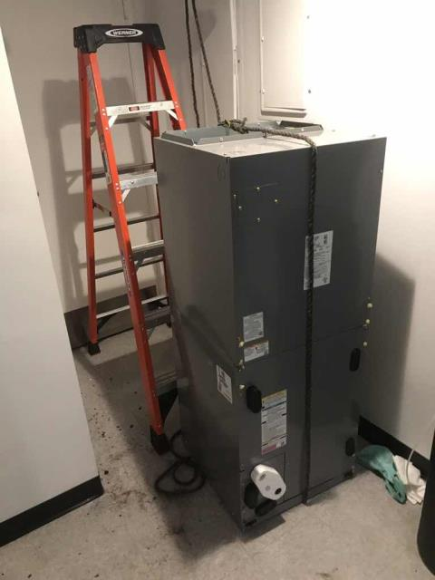 Santa Ana, CA - Dispatched our Orange County HVAC technician to a mobile provider for approved work. Their #2 air conditioner scheduled to be replaced. Our technicians removed and disassembled the existing air handler, welding and wiring in the new AHU and testing all operations. Confirmed new system is operation and site comfortable.
