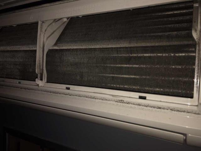 A production company in Los Angeles California reported a water leak from one of their air conditioners. Our commercial HVAC technician traced the leak back to their #3 Mitsubishi mini-split with dirty filters, evaporator coil and a plugged drain line. Resolved all three issues, ran and tested system. Unit supplying 50 degree air and draining properly now.