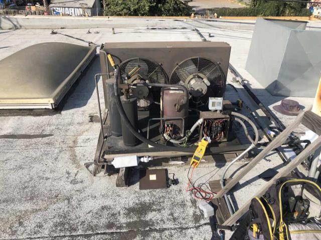 Glendale, CA - A business in Glendale California requested an refrigeration technician for their refrigeration vault as it was blowing hot air. Upon arrival, our technician troubleshooted the system and found that the compressor had grounded. Will need to quote a return repair with a new compressor, drier and necessary refrigerant.