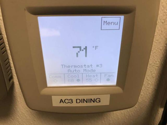 A restaurant in Santa Clara CA reported that one of their air conditioners wasn't cooling. Upon arrival, our technician troubleshooted the Lennox split system and found an issue with the wiring o the reversing valve, causing the system to run on heat mode only. Resolved the wiring issue and fixed the settings on the thermostat. Unit started up in cooling mode again, no more issues to report.