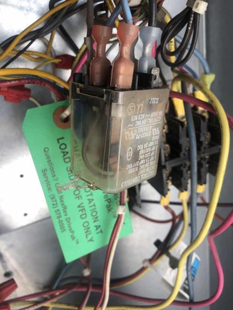 A home good store in Redding, California, reported one of their HVAC units not cooling. Our AC technician found the Lennox unit tripped on high pressure. He traced the issue back to a failed relay for the condenser fan motor. Sourced a new relay locally and replaced it. Cycled system to test, unit is cooling sufficiently with a 20 degree split.