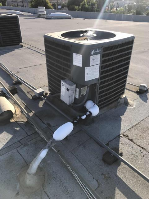 Our commercial customer in Los Angeles CA requested an urgent filter change for one of their properties. After dating and replacing all A/C filters our technician found unit #4 with a failed blower motor, causing the air conditioner to ice up. Will quote necessary repairs to the customer.