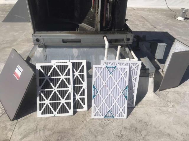 Modesto, CA - HVAC Fall Maintenance: All units at a cell phone provider in Modesto, CA, serviced today. Filters replaced, full fall inspection and heating startup completed. No deficiencies to report.