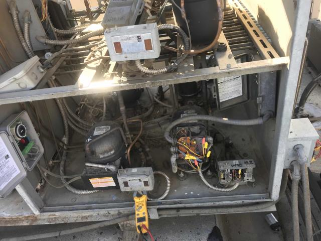 Received an urgent request for a down walk-in cooler at a new location in Palmdale, California today. Our refrigeration tech arrived onsite and discovered that the system had been disconnected from their rack refrigeration system due to the presence of multiple leaks. System is badly rusted. Recommend refitting the system for its own condensing unit and controls, will need to build a new base and determine best power source. Discussing project with dispatch managers and will quote to the customer.