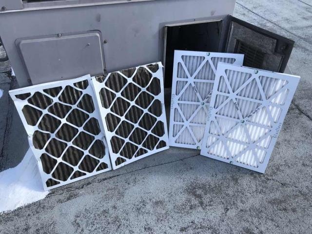 Fall HVAC preventative maintenance completed for a chiropractor's office in Lakewood, CA. Single unit location with two air filters. Heating inspection completed, filters changed and cleared a drain line of CO2.