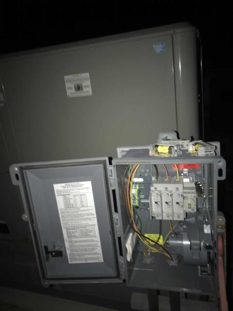 A retailer in Huntington Beach California reported one of their units had gone offline. Our commercial tech found the breaker panel tripped. Reset the breaker and brought unit #5 online, with no other issues found. Continued investigating and found 9B also offline. Further troubleshooting determined that the fuses had blown. Will need to return with correctly sized fuses to get unit back online.