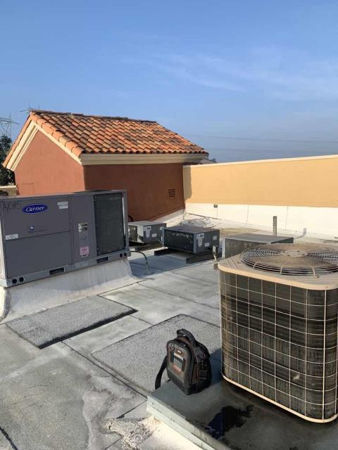 A management office for a mall was scheduled for PM service today in Anaheim, California. Their air conditioning equipment was inspected, following our standard 180 minor service schedule. All units were running well, and no items to report.