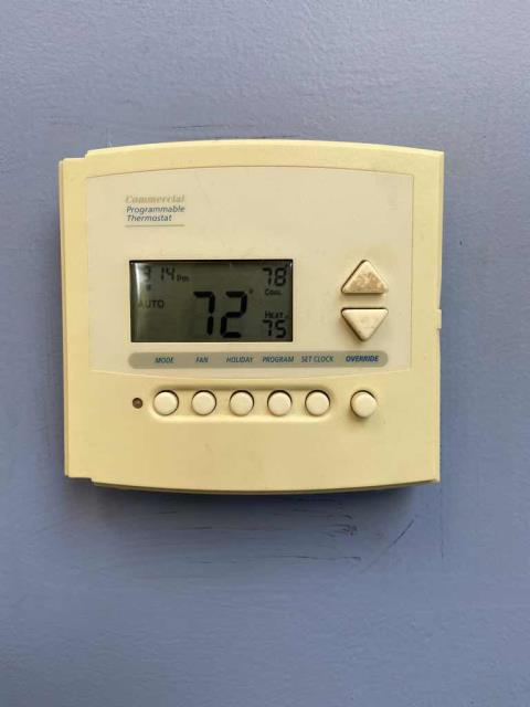 Dispatched our commercial air conditioning technician to a health center in Studio City, CA, to investigate a no heat issue. Their A/C unit was running correctly, but the thermostat was not programmed correctly and was set too high for heat to kick in. After reprogramming, the site was comfortable again.