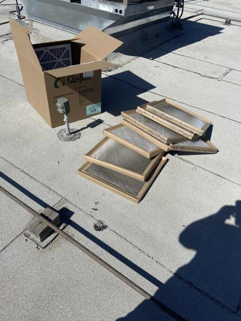 Air conditioning maintenance scheduled today at a bank in Goleta, California. All commercial units were inspected for deficiencies and filters replaced. No items to report on this visit. PM complete.