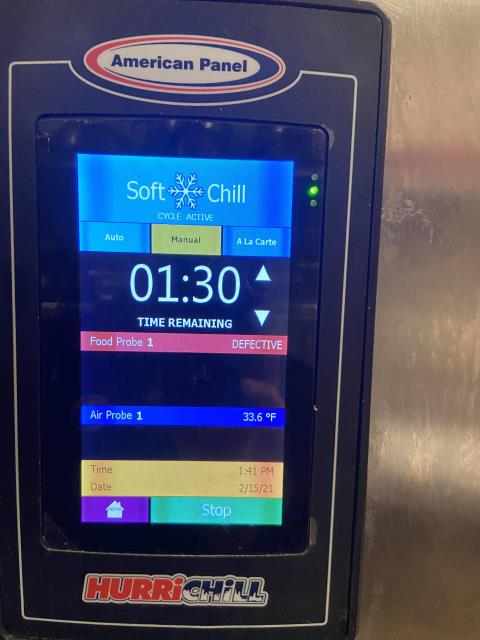 San Diego, CA - Dispatched a technician to a restaurant in San Diego, California, to investigate their blast chiller not cooling. Upon arrival our tech found the unit running fine. Troubleshooted all components and inspected. Unable to replicate issues reported by customer, no alarms or refrigerant leaks present. Will monitor, but freezer is working at this time.